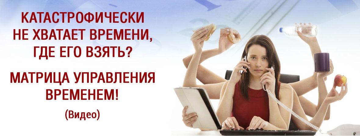 Матрица управления временем от Сергея Шевченко